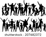 family silhouettes   Shutterstock .eps vector #207682372