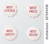 white vector labels | Shutterstock .eps vector #207694438