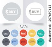 buy sign icon. online buying... | Shutterstock .eps vector #207697615
