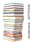 A Pile Of Books Isolated On...