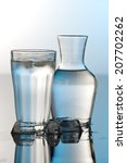 glass and bottle of water | Shutterstock . vector #207702262