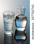 glass and bottle of water | Shutterstock . vector #207702742