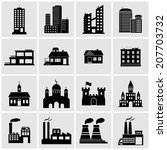 building icons | Shutterstock . vector #207703732