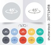 angle 45 degrees sign icon.... | Shutterstock .eps vector #207713458