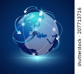 earth   globe vector arrow...   Shutterstock .eps vector #207713716