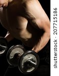 athletic built young man with... | Shutterstock . vector #207715186