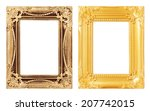 gold picture frame. isolated... | Shutterstock . vector #207742015