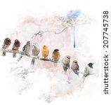 Watercolor Digital Painting Of  ...
