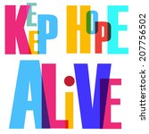 vector hope. broken text | Shutterstock .eps vector #207756502