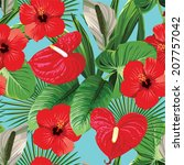 exotic tropical floral ...   Shutterstock .eps vector #207757042