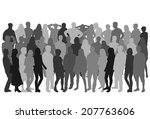group of people | Shutterstock .eps vector #207763606