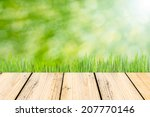 summer background with wooden... | Shutterstock . vector #207770146