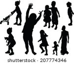 children collection   vector | Shutterstock .eps vector #207774346