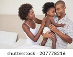 happy parents with their baby... | Shutterstock . vector #207778216