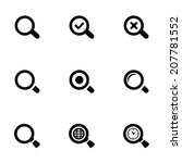 search icons set  black on... | Shutterstock .eps vector #207781552