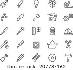 carpenter tools icons | Shutterstock .eps vector #207787162