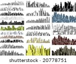 set of editable vector simple 3 ... | Shutterstock .eps vector #20778751
