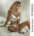 sensual attractive blonde woman ... | Shutterstock . vector #207808402