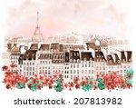 city of paris | Shutterstock . vector #207813982