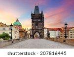 Prague   Charles Bridge  Czech...