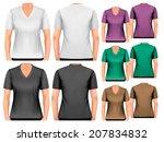 female v neck t shirts. design...