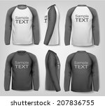 male long sleeved shirts.... | Shutterstock .eps vector #207836755
