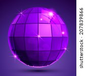 bright textured plastic... | Shutterstock .eps vector #207839866