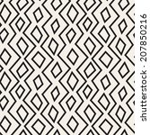 seamless pattern with zigzag.... | Shutterstock .eps vector #207850216