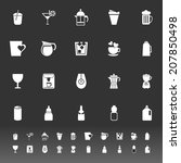 variety drink icons on gray... | Shutterstock .eps vector #207850498