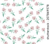 seamless pattern with hand... | Shutterstock . vector #207869578