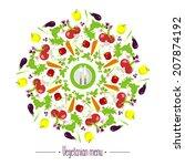 vegetarian menu | Shutterstock .eps vector #207874192