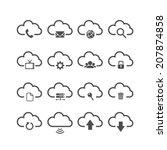 cloud computing icon set  each...