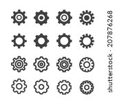 settings icon set | Shutterstock .eps vector #207876268