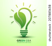Ecology Idea Green Bulb With...