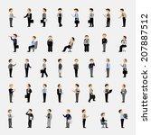 business men   isolated on gray ... | Shutterstock .eps vector #207887512