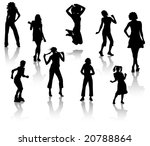 silhouettes of young girls. a... | Shutterstock .eps vector #20788864