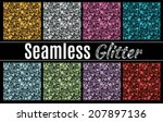 collection of vector glitter... | Shutterstock .eps vector #207897136