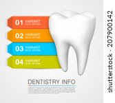 dentistry info  tooth color... | Shutterstock .eps vector #207900142