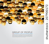 a large group of people  head... | Shutterstock .eps vector #207900172