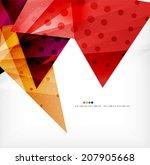 modern 3d glossy overlapping... | Shutterstock . vector #207905668