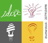 four different designs of light ...   Shutterstock .eps vector #207910498