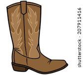 cowboy boot | Shutterstock .eps vector #207911416