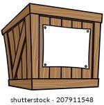 crate cartoon | Shutterstock .eps vector #207911548