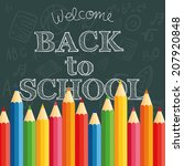 abstract back to school... | Shutterstock .eps vector #207920848