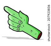 cartoon pointing zombie hand   Shutterstock .eps vector #207923836