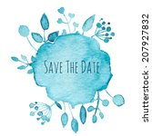 save the date for holiday.... | Shutterstock .eps vector #207927832