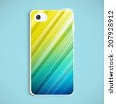 the back of smart phone.... | Shutterstock .eps vector #207928912