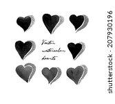 vector ink hand drawn doodle... | Shutterstock .eps vector #207930196