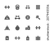 weight icons set. | Shutterstock .eps vector #207945556