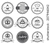 set of vintage black and white... | Shutterstock . vector #207946042